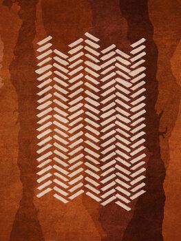 Wallpaper Mural Boho Fishbone