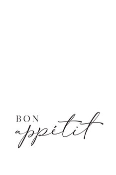 Wallpaper Mural Bon appetit typography art