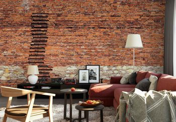 Brick Ladder Wallpaper Mural