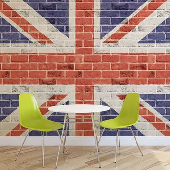 Brick Wall Union Jack Wallpaper Mural