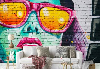 Bright Bricks Wallpaper Mural