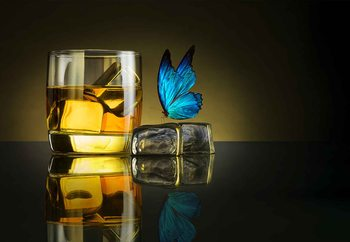 Butterfly Drink Wallpaper Mural