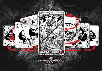 Cards Skull Tarot Wallpaper Mural