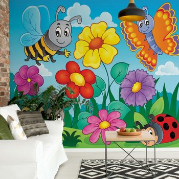 Cartoon Bugs Wallpaper Mural