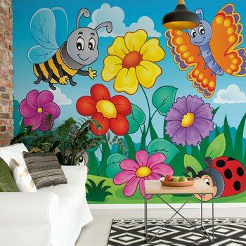 Cartoon Bugs Wallpaper Mural