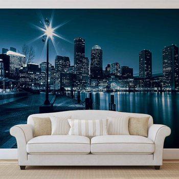 City Boston Skyline Wallpaper Mural