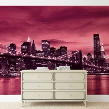 City Brooklyn Bridge New York City Wallpaper Mural
