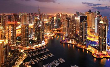 City Dubai Marina Skyline Wallpaper Mural
