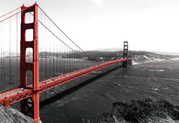 City Golden Gate Bridge Wallpaper Mural