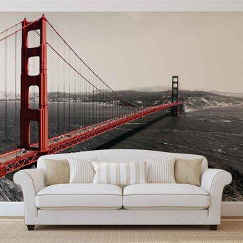 City Golden Gate Bridge Wallpaper Mural