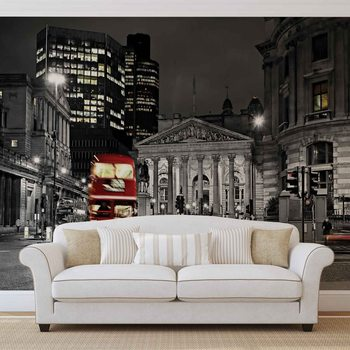 City London Bus Red Wallpaper Mural
