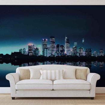 City Skyline Wallpaper Mural