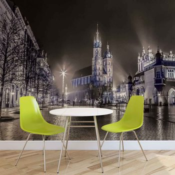 City Skyline Krakow Wallpaper Mural