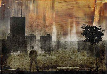 Cityscape Shadows Wallpaper Mural