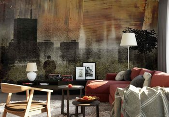Cityscape Shadows Wallpaper Mural