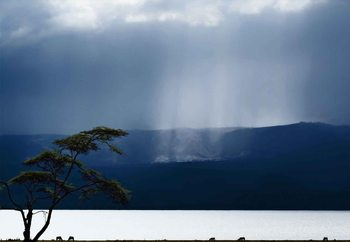 Clouds Over Lake Naivasha Wallpaper Mural