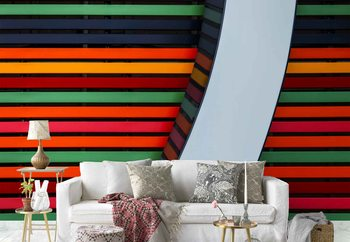 Colour Stripes Wallpaper Mural