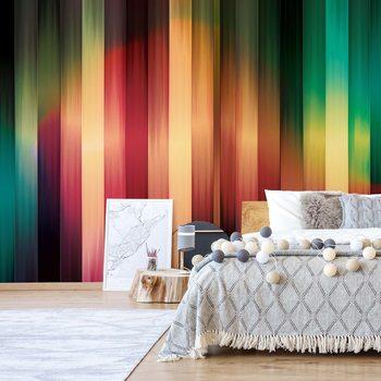 Colourful Light Streaks Modern Design Wallpaper Mural