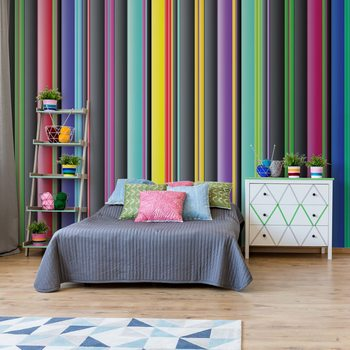 Colourful Stripe Pattern Wallpaper Mural