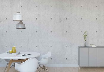 Concrete Dots Wallpaper Mural
