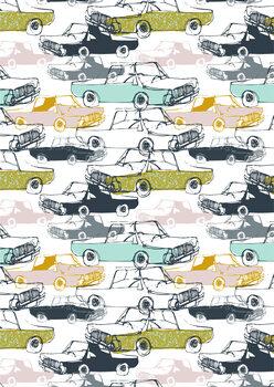 Wallpaper Mural Cool Cars - Pattern