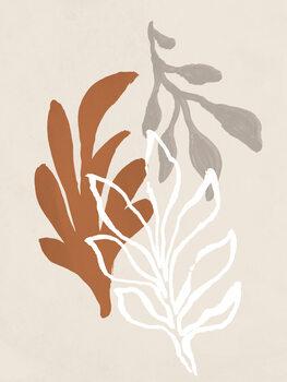 Wallpaper Mural Coral Leaves
