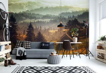 Cottage With Views Wallpaper Mural