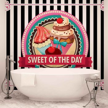 Cupcakes Retro Wallpaper Mural
