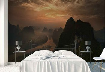 Dawn At Li River Wallpaper Mural