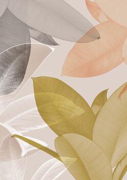 Wallpaper Mural Delicate leaves i