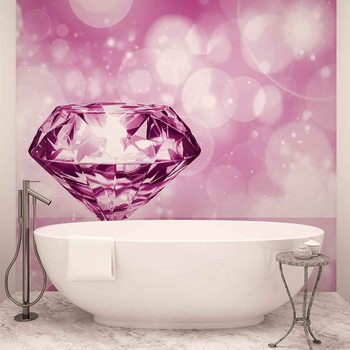 Diamond Pink Wallpaper Mural
