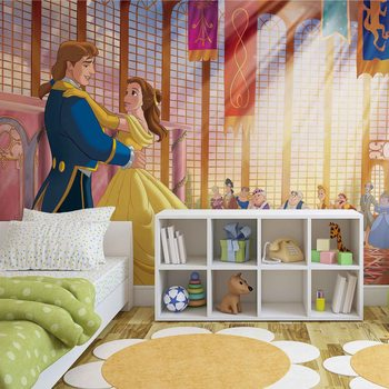Disney Princesses Belle Beauty Beast Wallpaper Mural