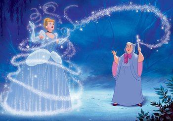 Disney Princesses Cinderella 104x70.5 cm - 130g/m2 Vlies Non-Woven Wallpaper Mural