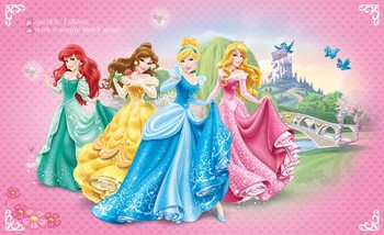Disney Princesses Cinderella Belle Wallpaper Mural