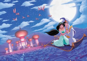 Disney Princesses Jasmine Aladdin Wallpaper Mural