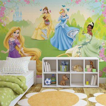 Disney Princesses Rapunzel Tiana Belle Wallpaper Mural