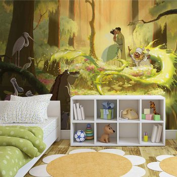 Disney Princesses Tiana Frog Kiss Wallpaper Mural