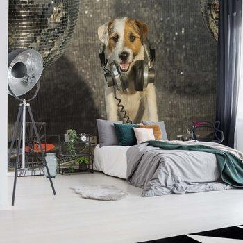 Dog Dj Wallpaper Mural