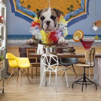 Dog Holiday Wallpaper Mural