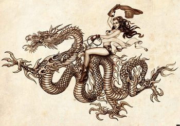 Dragon Tattoo Wallpaper Mural