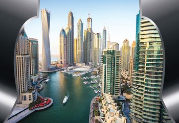 Dubai City Skyline Wallpaper Mural