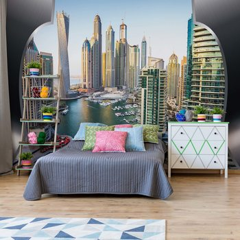 Dubai City Skyline Wallpaper Mural
