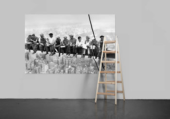 EATING ABOVE MANHATTAN Wallpaper Mural
