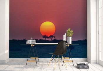 Equatorial Sunset Wallpaper Mural