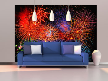 FIREWORKS Wallpaper Mural
