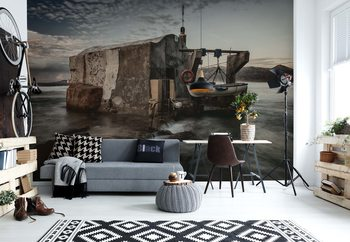 Fisherman's Hut Wallpaper Mural
