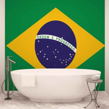 Flag Brasil Wallpaper Mural