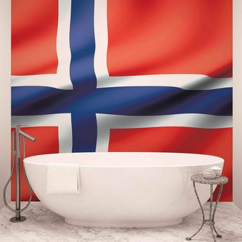 Flag Norway Wallpaper Mural
