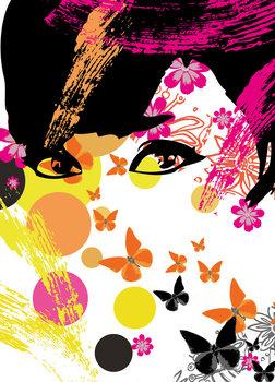 FLORAL GIRL Wallpaper Mural