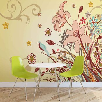 Floral Pattern Wallpaper Mural